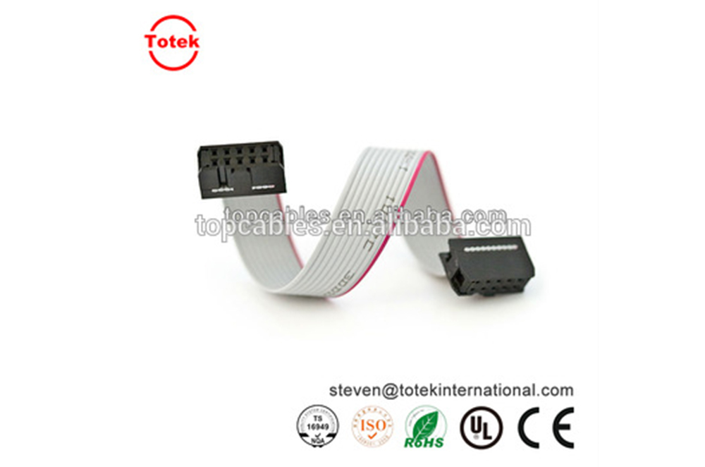 2.54mm pitch idc connector flat flexible ribbon cable