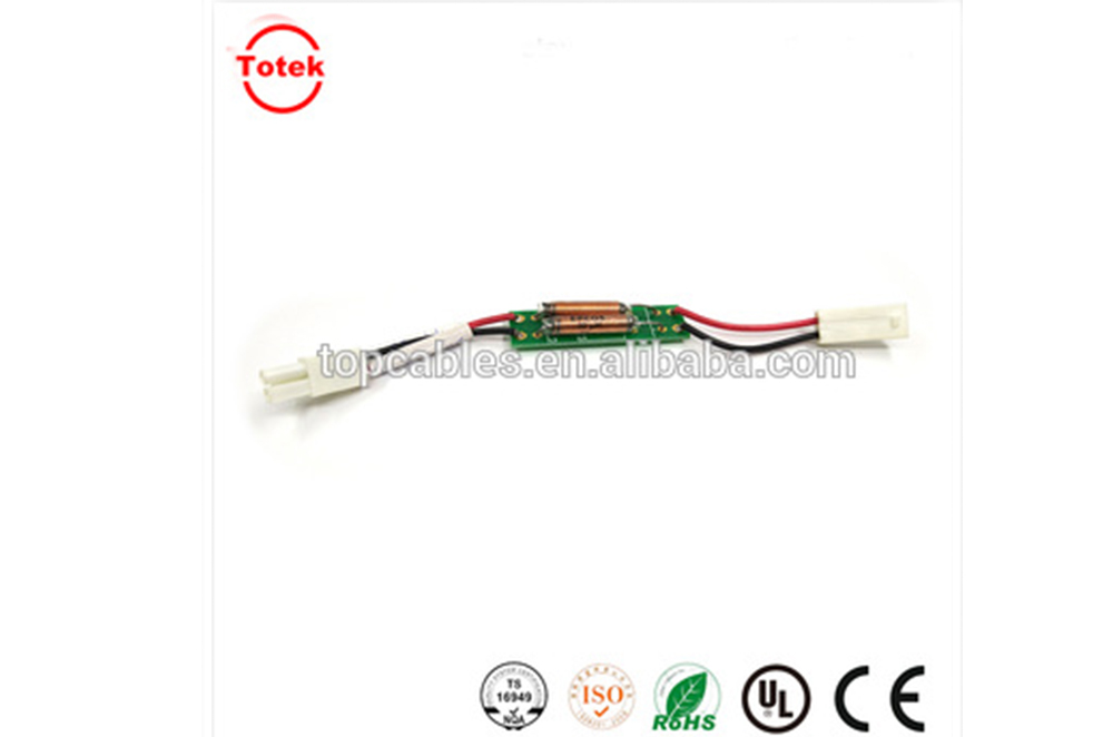 Custom JST cable assembly with PCB board
