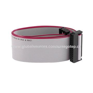 Flat-ribbon cable 14 lines, gray color, 28AWG3.jpg