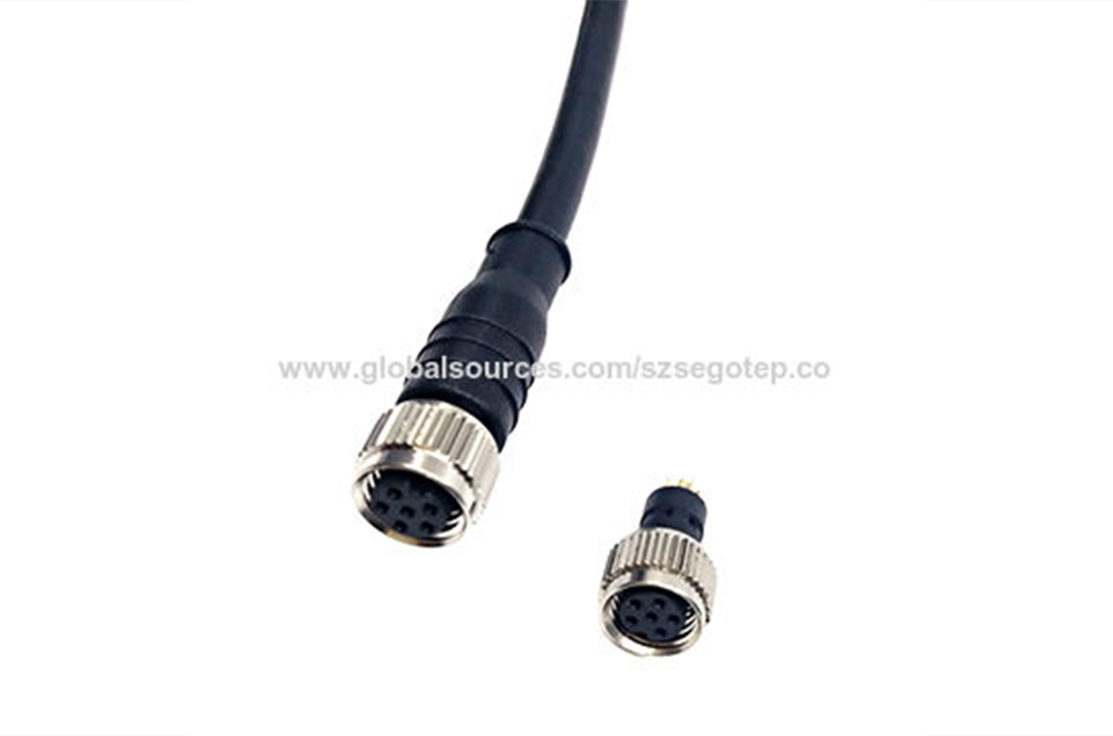 M8 6pin waterproof connector cable for Sensor,M8 connector