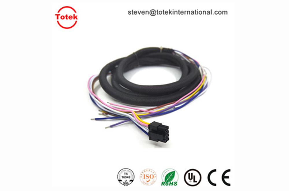mx3.0 8p c3030HF to open end Custom wire harness with self-winding sleeves
