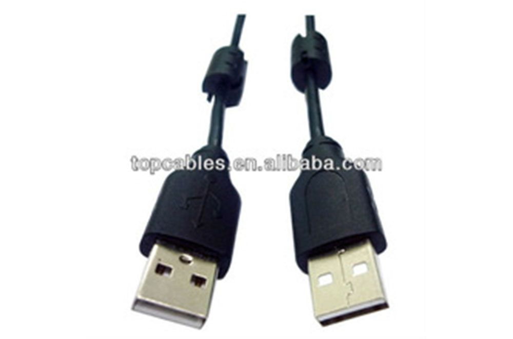 standard usb 2.0 AM to AM cable, 24awg/ 26awg/ 28awg copper usb data cable