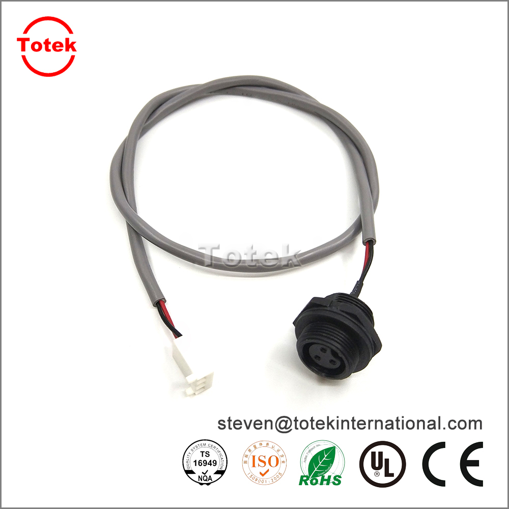 LTWBD-03RMFS-SC7001 Waterproof 3pin panel amount connector to micro-fit Custom wire harness
