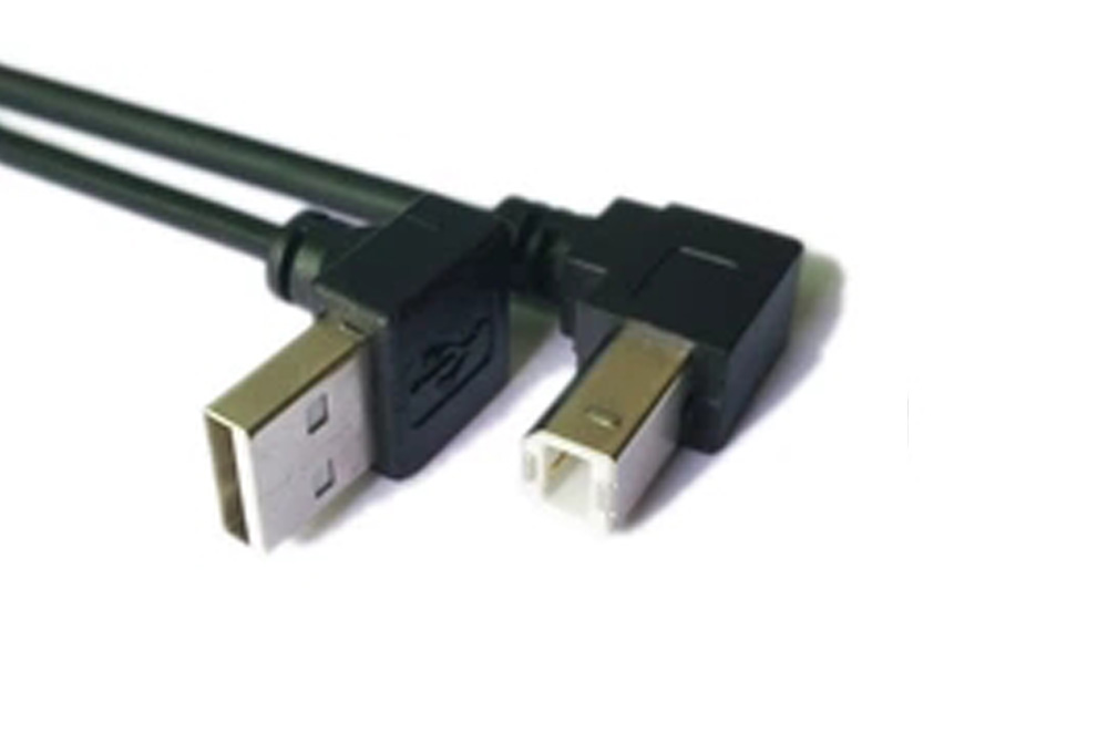 USB 2.0 up angle USB AM to down angle USB B male printer cable